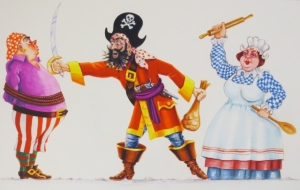 Detail of Pirate Pranks tableau designed by Graham Ogden in 1996 © Blackpool Council