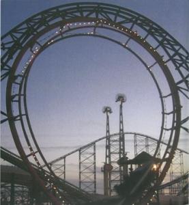 "Revolution loop. Credit: ""Blackpool Pleasure Beach"" V Toulmin, Blackpool Council 2011"