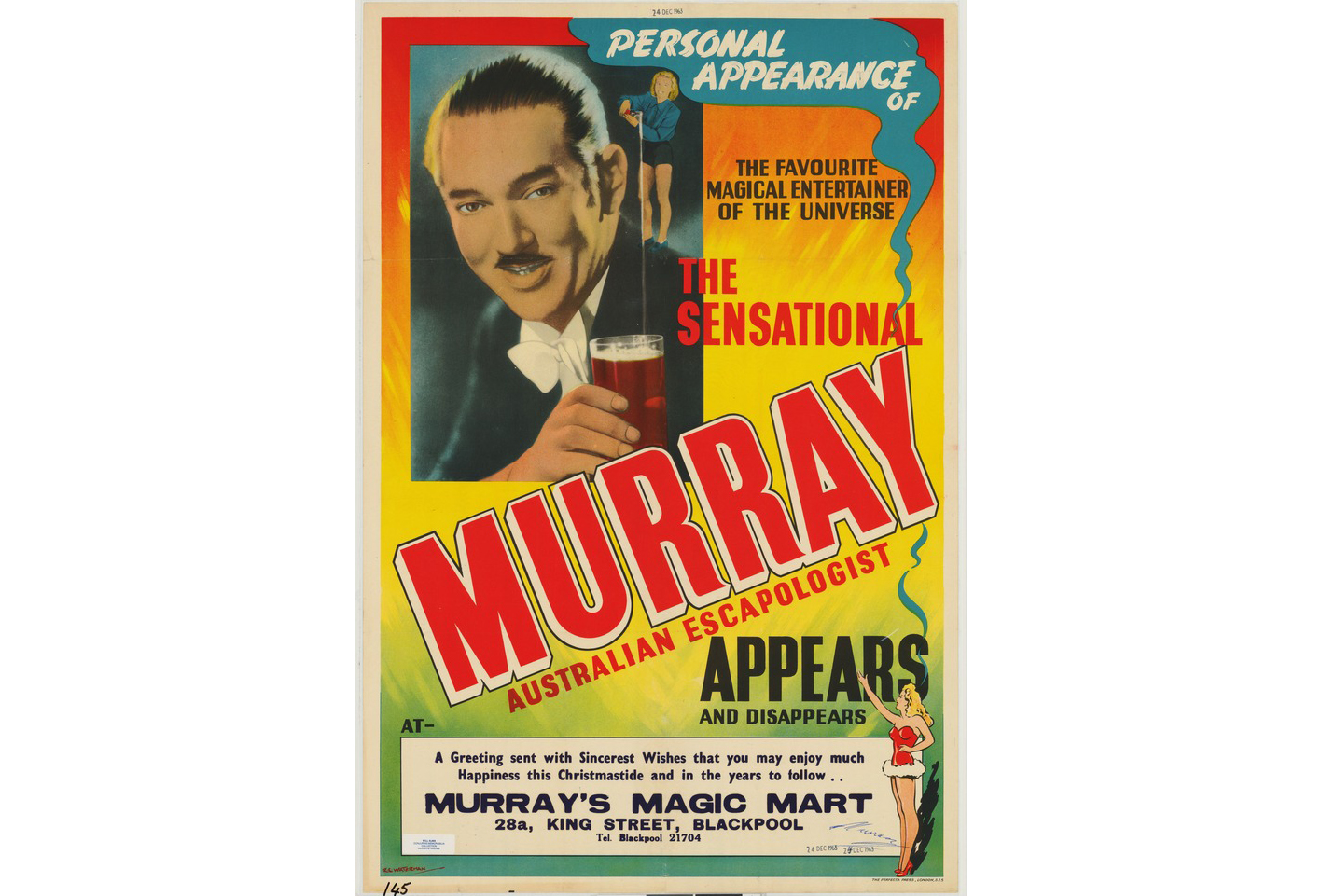Magic Murray's Mart poster, Courtesy of State Library Victoria, Australia