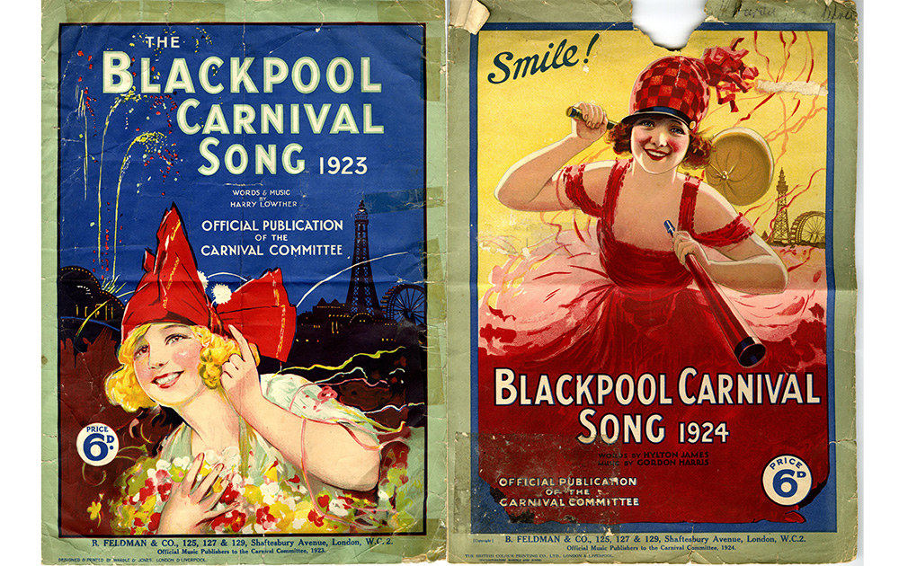 Blackpool Carnival 1923 and 1924 Song Sheets © Blackpool Council