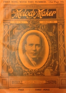 Lawrence Wright on front cover of the first issue of the Melody Maker, January 1926, British Library