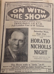 Adverts for On With the Show on North Pier, 1929 from the Cyril Critchlow Collection, Blackpool Local and Family History Centre/Blackpool Council
