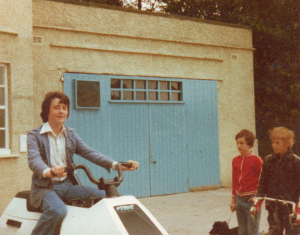 Barry McCann on the Wetbike that featured in The Spy Who Loved Me. © Barry McCann