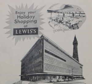 Advert for Lewis's, 1965 © Blackpool Council