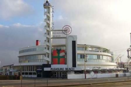 Joseph Emberton's Modernist casino building at Blackpool Pleasure Beach. Photograph by Ted Lightbown.