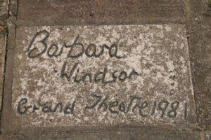 Barbara Windsor's signed patio slab