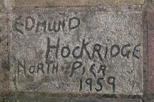Edmund Hockridge's signed slab