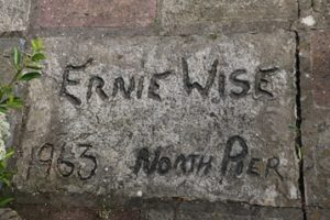 Patio signed by Ernie Wise